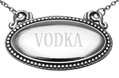Vodka Liquor Decanter Label/Tag - Oval beaded...