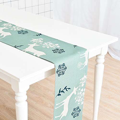 Fashion Elk Cotton and Linen Thickened Table Runner, Table Decoration, 30x180cm