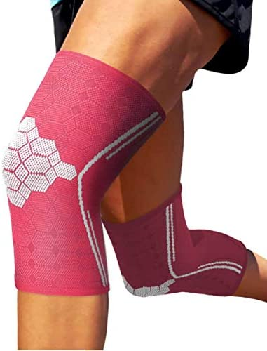 Sparthos Knee Compression Sleeves Pair Support for Sports Running Joint Pain Relief Knee Brace product image