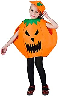 AMOR PRESENT Halloween Pumpkin Cosplay Costume Party Clothes for Kids April Fools Day Jokes
