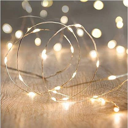 Mini Battery Powered String Lights, Battery Operated Fairy Lights for Bedroom, Christmas, Parties, Wedding, Centerpiece, Decoration (5m/16ft) (Warm White)