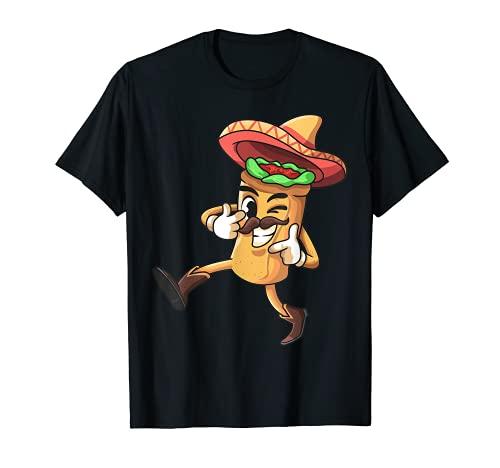 Funny Burrito mexicano   Disfraz de Cinco de Mayo Fiesta Camiseta