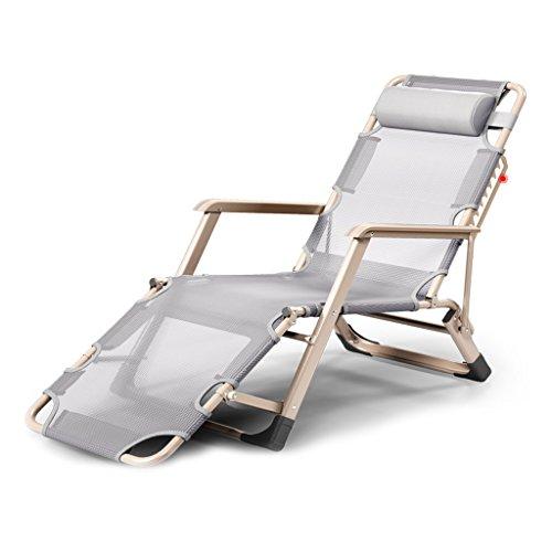 MC Klappstuhl Klapp Lounge Chair Mittagspause Siesta Stuhl Büro Bett Rückenlehne Lazy Beach Chair Casual Haushalt Multifunktions Lounge-Sessel (Color : A)