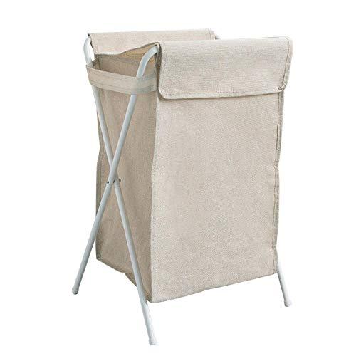 XHSSF cesto Ropa Sucia con Tapa cesto Ropa Plegable Cesta Colada Grande Arte de Tela Gran Capacidad para Dormitorio Sala de Estar-Caqui