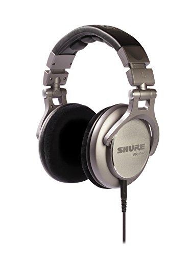 Shure SRH940, geschlossener Kopfhörer / Over-ear, schwarz/silber, Premium, Referenz-/Studiokopfhörer, geräuschunterdrückend, faltbar, Kabel austauschbar, Velourpolster, linearer Frequenzgang, One Size
