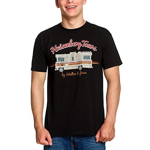 Breaking Bad Heisenberg Tours T-Shirt für Serien Fans großer Frontprint Baumwolle schwarz