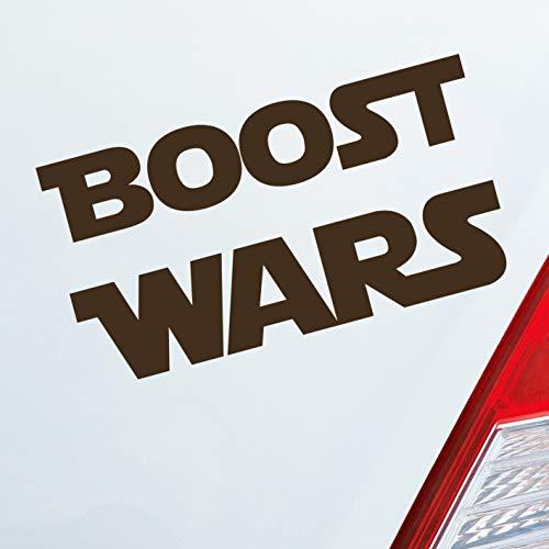 Hellweg Druckerei Auto Aufkleber Boost Wars Turbo Nitro Krieg Race Rennen Car Sticker Fun Folie Braun