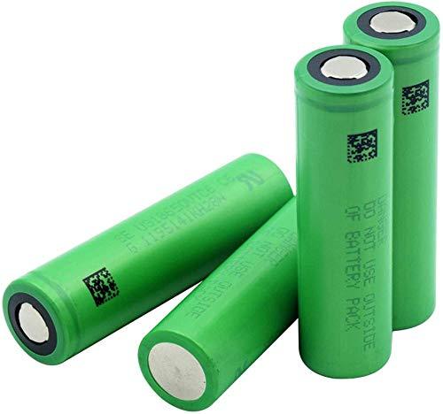 Green Us18650vtc6 3000mah 3.7v Batería de Iones de Litio de Litio Banco de energía Batería de Repuesto para Faros Delanteros 4 Piezas