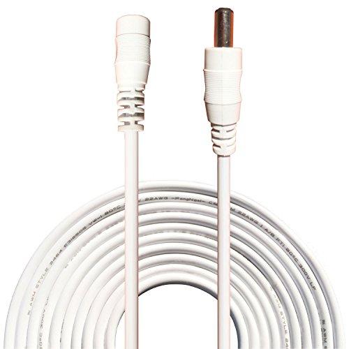 Kabenjee 10m DC-Netzteil-Verlängerungskabel,5.5mm x 2.1mm DC Verlängerung Verbinder Draht für LED Streifen-CCTV-Überwachungskameras-Auto,DVR,AHD Überwachungskamera Systeme,WLAN Router,POE