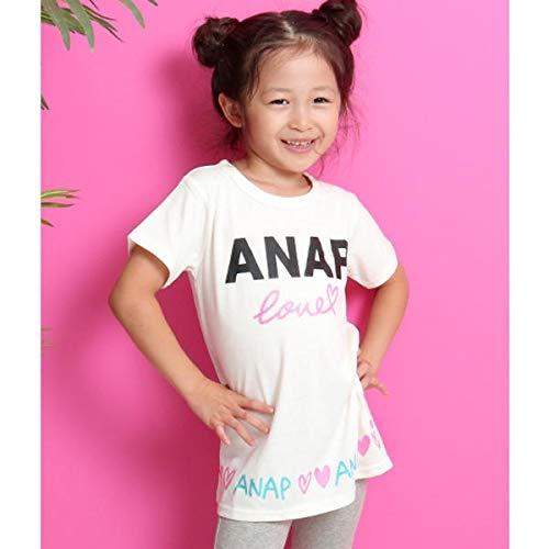 アナップキッズ&ガール(ANAP KIDS&GIRL) ラメプリントチュニック【WH/100】
