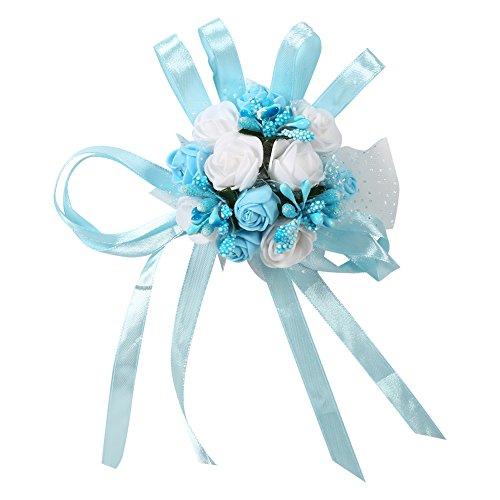 Pack de 2boda novia dama de honor Exquisito Floral muñeca corsé de las mujeres las niñas partido prom baile Mano Muñeca Flores ramo decoración