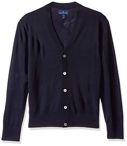 BUTTONED DOWN Men's Italian Merino Wool Lightweight Cashwool Cardigan Sweater, Midnight Navy, XX-Large