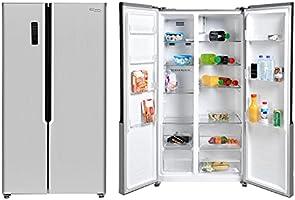 Super General 600 Liters Gross Side-By-Side Double-Door Refrigerator-Freezer, Digital Control, Silver, SGR-710-SBS, 90.5...