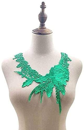 Aeromdale Escote de encaje floral apliques de costura en parches de adorno...
