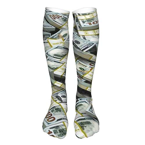 LLOOP Calcetines de estilo vintage 3D gruesos cálidos de invierno con signo de dólar americano para mujeres y hombres