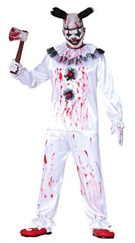 Disfraz payaso payaso asesino disfrazado horror halloween hombre