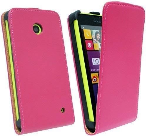 ENERGMiX Handytasche Flip Style kompatibel mit Nokia Lumia 630 in Pink Klapptasche Hülle