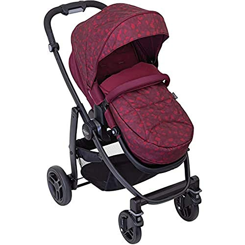 Graco Evo Pushchair/Stroller (Birth to 3 Years Approx, 0-15 kg) with Apron and Raincover, Red Leopard