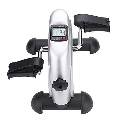 Mini bicicleta estática portátil, mini bicicleta de entrenamiento de brazos y piernas, pedal, resistencia ajustable, minibicicleta