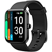 YAMAY ID206 Smartwatch, Compatible with Alexa, Unisex, Free Dial Setting, Pedometer, Calories Burned, Weather Display, Incoming Call Notifications, 14 Sports Modes Added to Swimming, Japanese Apps, iOS & Android Compatible