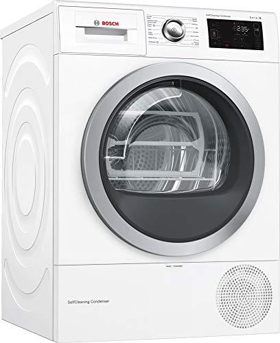 Bosch Serie 6 WTW87640ES - Secadora (Independiente, Carga frontal, Bomba de calor, Blanco, Giratorio, Tocar, Derecho)