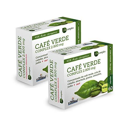 Nature Essential Café verde 2800 mg complex - 60 cápsulas, Pack 2 unididades