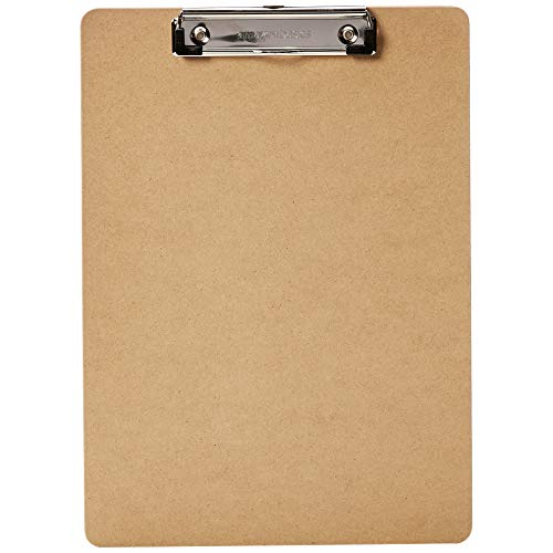 Amazon Basics Hardboard Office Clipboard - 6-Pack