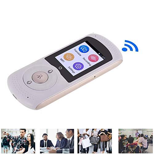 YP Las Funciones de traducción de Voz, WiFi de Red 4G y Punto de Acceso del convertidor Bestrans admiten Dos traducciones en 45 Idiomas, Pantalla táctil de 2.0 Pulgadas, etc,Blanco