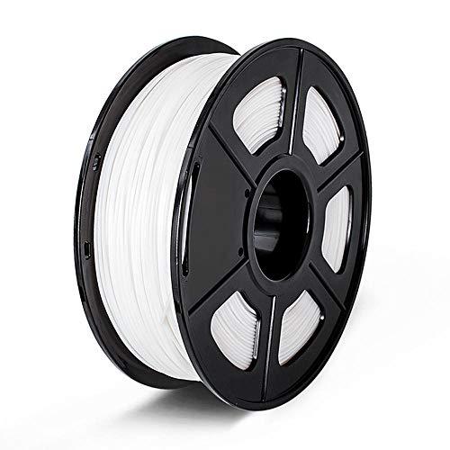 3D Printing Filament PLA 1.75mm ,1KG Multi-Colors Accuracy Dimension +/-0.02mm for Choose 3D Printer Filament Plastic-PLA_White