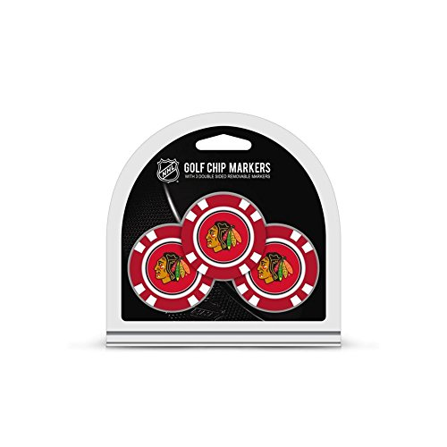 Best Price Team Golf NHL Chicago Blackhawks Golf Chip Ball Markers (3 Count), Poker Chip Size with P...