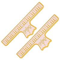 音楽愛好家のための記譜法のための耐久性のある頑丈な楽器演奏アクセサリー(yellow)