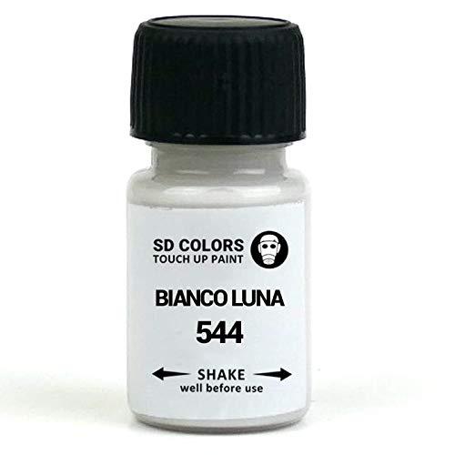 SD COLORS BIANCO LUNA 544 - Vernice per ritocchi da 8 ml, per riparazione graffi e scheggiature, per moto e scooter (solo vernice)