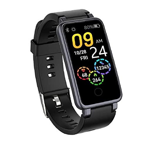 Smart Watch 1.14 pulgadas impermeable un botón pulsera aptitud paso contador reloj negro dispositivo portátil