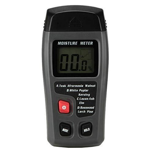 Gasea Detector Humedad de Madera, Instrumento de Medición Digital de Humedad para Madera LED, Probador Multifunción para Medir la Humedad en Madera, Materiales de Construcción.