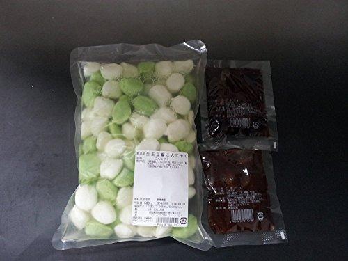生 玉豆腐こんにゃく 500g (白、枝豆) 専用ゴマダレ60g×4個付き×5セット 北毛久呂保 低カロリーで高タンパク 生豆腐コンニャク
