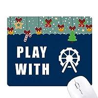 観覧車ゲーム ゲーム用スライドゴムのマウスパッドクリスマス
