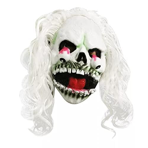 BAJIE Máscara de Halloween Creepy Scary Melting Mascarilla Latex Horror Halloween...