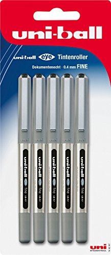 MITSUBISHI 148197–Penna roller Uni-ball Eye UB 157, spessore: 0,4mm Confezione da 5 1 confezione nero