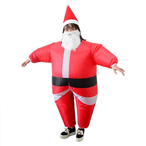 Disfraz hinchable de Papá Noel, carnaval, para carnaval, festival e inflado, 40 x 30 x 2 cm...