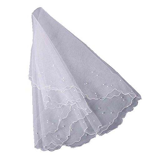 1.5M Long voile de mariée nuptiale Fleuret simple, blanc, fournitures de mariage