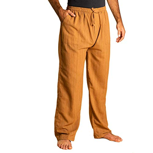 PANASIAM Bundhose 'Linie', goldbrown, L