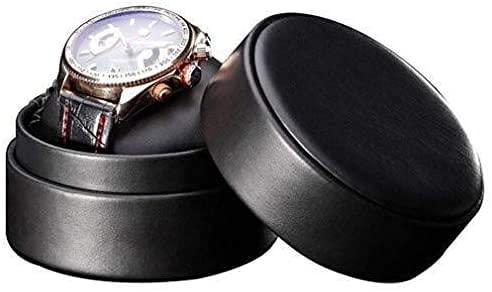 ZHENAO Reloj de cuero caja de almacenamiento único reloj Boes Shell original reloj redondo exquisito