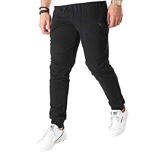 Emporio Armani Underwear Trousers Iconic Terry Pantaloni Sportivi, Nero, L Uomo