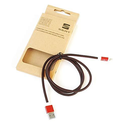 Seat 000051444AK - Cable de carga original 2 en 1 para Android/iOS...