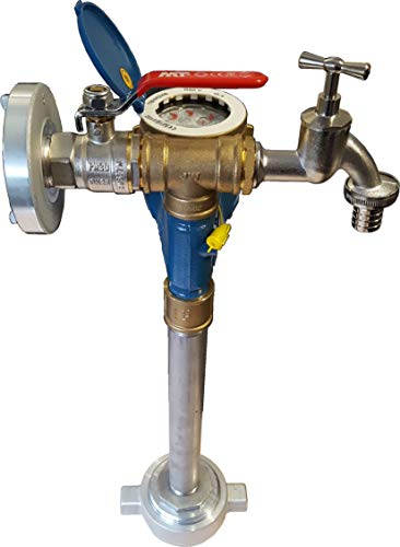 Wassermess Standrohr Qn2.5 Mini Fuß DN 80 Storz C + Zapfhahn + Rückflussverhinderer