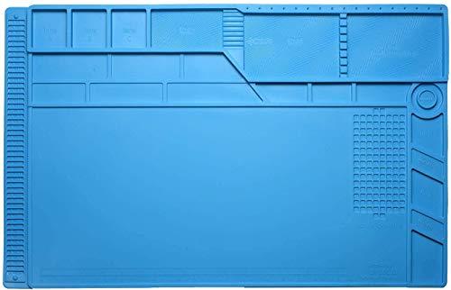 55x 35cm Lötmatte Antistatische Reparatur Matte, Aweohtle Magnetische 500℃ Hitzebeständige Silikonmatte Arbeitsmatte für Kamera Elektronische Laptop Handy Reperatur- (Maximale Größe)