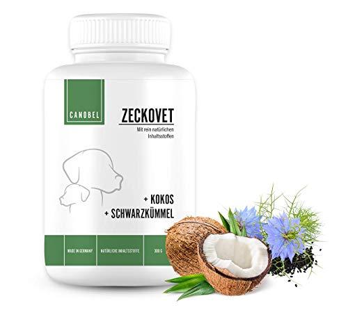 Canobel® Zeckovet Drops - natürlicher Unterstützung bei der Abwehr von Zecken und Flöhen mit Schwarzkümmelöl und Kokosöl - kaltgepresst/getreidefrei/hypoallergen