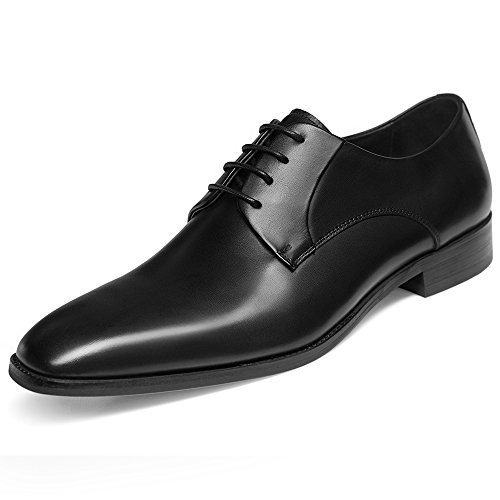 GIFENNSE Mens Leather Oxford Dress Shoes Formal Lace Up Modern Shoes 9US Black