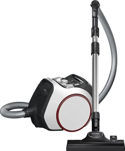 Miele Boost CX1, Aspirapolvere a Traino Senza Sacco con Filo, Bianco e Rosso, 890 W, 1 Liter