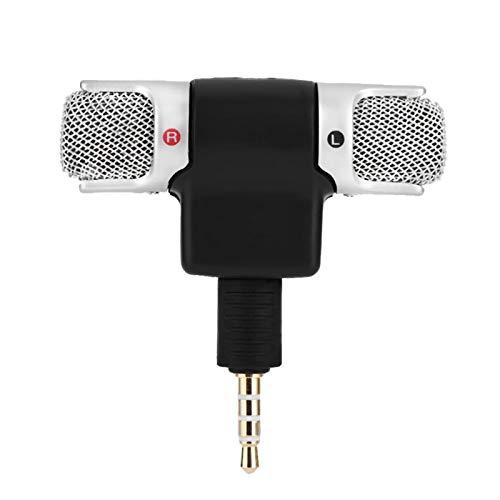 マイク-AndriodPhonesiPhone用ミニステレオマイクマイク3.5mm金メッキプラグジャック